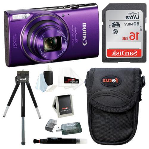 Canon PowerShot ELPH 360 HS Digital Camera  w/ 16GB SD Card