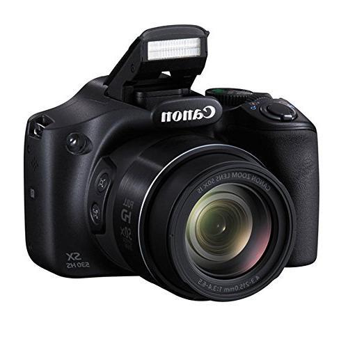 "Canon Digital Camera SDHC Memory Card + 67mm Filter Kit 12"" Flexible Tripod Vivitar Hard Case + Cloth Kit"