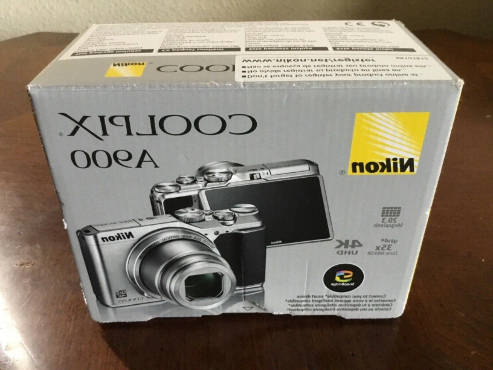 coolpix a900 digital camera silver brand new