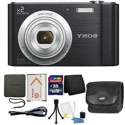 Sony Cyber-shot DSC-W800 20.1MP Digital Camera 5x Zoom Black