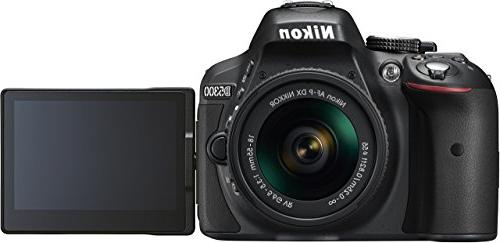 Nikon D5300 Digital SLR with 18-55mm AF-P VR Lens - Black
