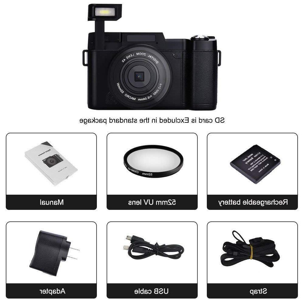 SEREE Video Camera Vlogging 24MP with