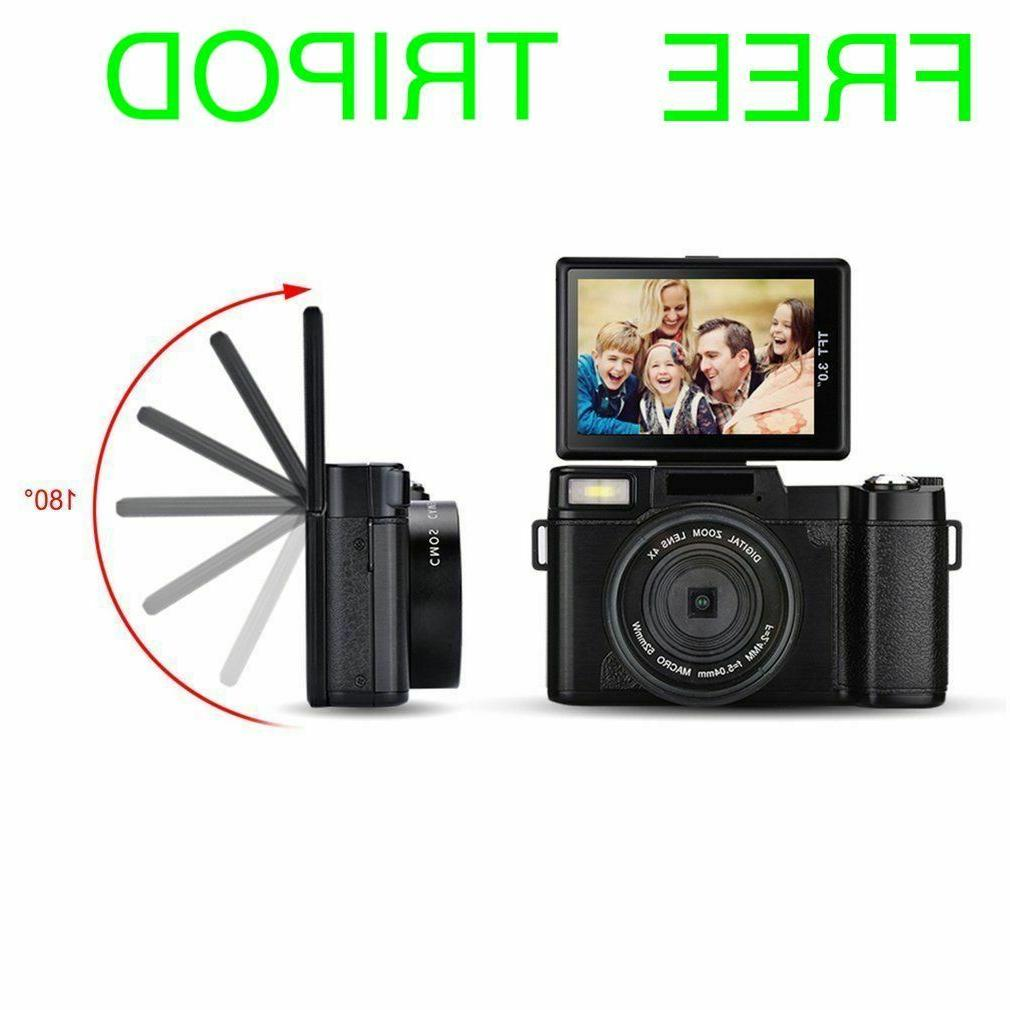 digital fhd 1080p video camera vlogging 24mp