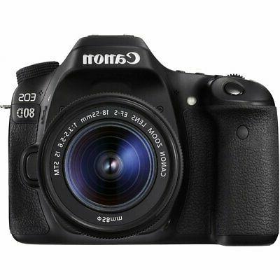 Canon EOS 80D Camera 18-55mm + 35mm DG HSM +d