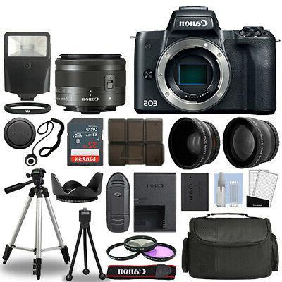 eos m50 camera body black 3 lens
