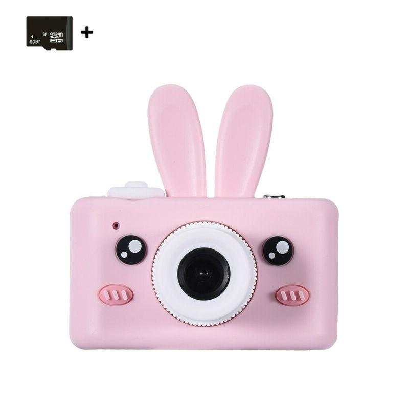 Kids Camera Rechargeable Children Digital With Cover 8MP 16G USB