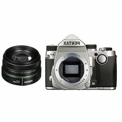 Pentax KP HD Wi-Fi Digital SLR Camera Body Silver