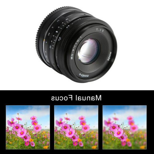 Manual Prime Fixed Lens for Sony E-Mount APS-C Digital Mirro