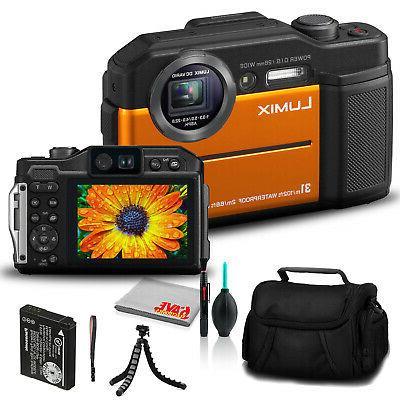 lumix dc ts7 digital camera orange dc