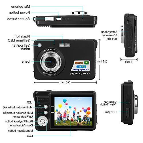 Yasolote Mini and Shoot Digital Video Cameras Sports,Travel,Holiday,Birthday Present