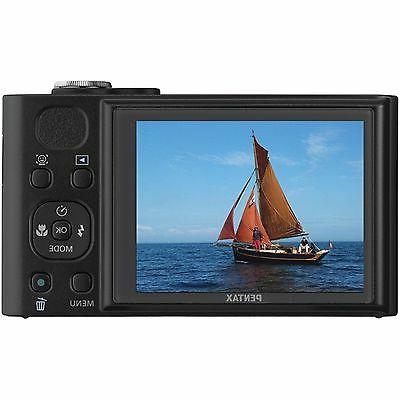 Pentax 16 MP Digital Camera 18x Zoom - Black