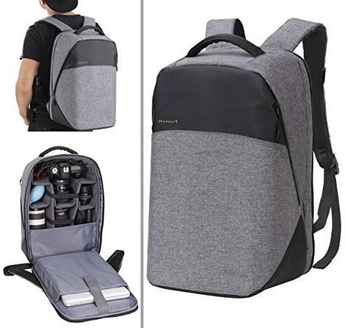 polyester dslr slr backpack padded