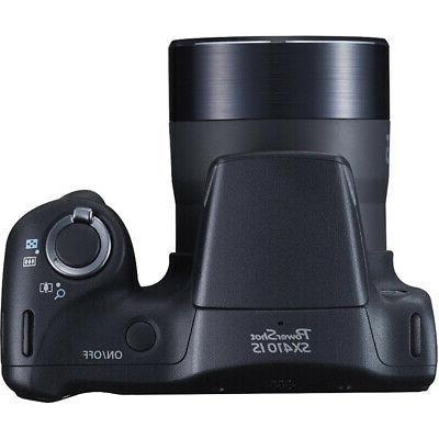 Canon Powershot SX410 Black Digital Camera Ex Battery Bundle