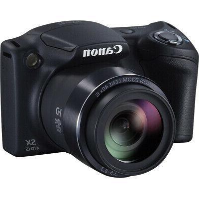 Canon Powershot SX410 Black Digital Battery Card 9pc Bundle