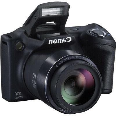 Canon SX410 Black Digital Ex Battery 32GB Card Bundle