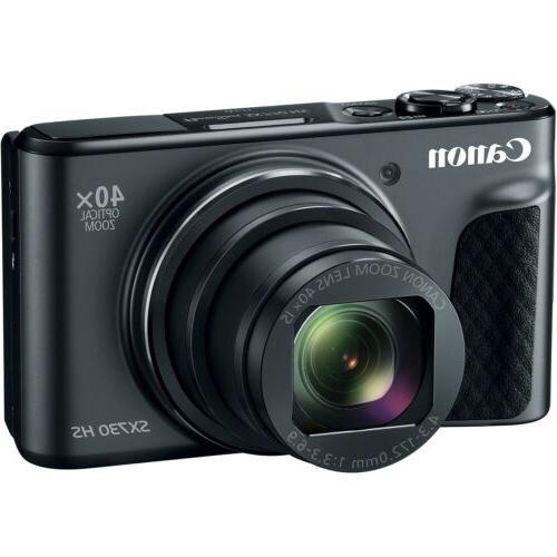 Canon PowerShot SX730 HS HD Wi-Fi Digital Camera Black