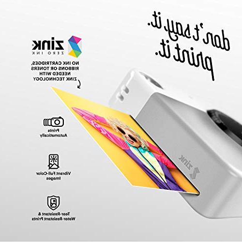 """Kodak PRINTOMATIC Instant Print , Color Prints On ZINK 2x3"""" Sticky-Backed Photo Paper - Print Memories Instantly"""