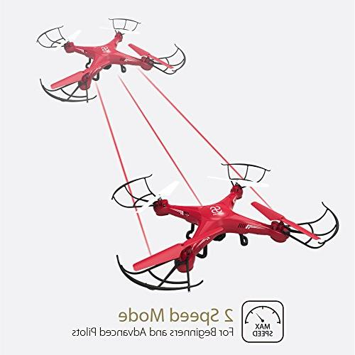 SKYKING Quadcopter Drone Control with Camera Photo Taking Recording 3D Flips Headless Mode,with SD 6 Axis Kids Beginners Adults
