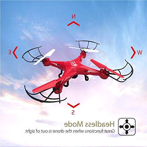 SKYKING Quadcopter Remote Control Drone with S-08C RC Quadcopter Photo Taking Video Recording 3D Headless 6 Axis Gyro Kids Adults