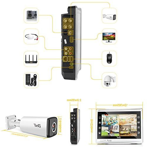 BNT 4Channel Security System Monitor DVR Hard & Waterproof Indoor CCTV Surveillance Vision Detect
