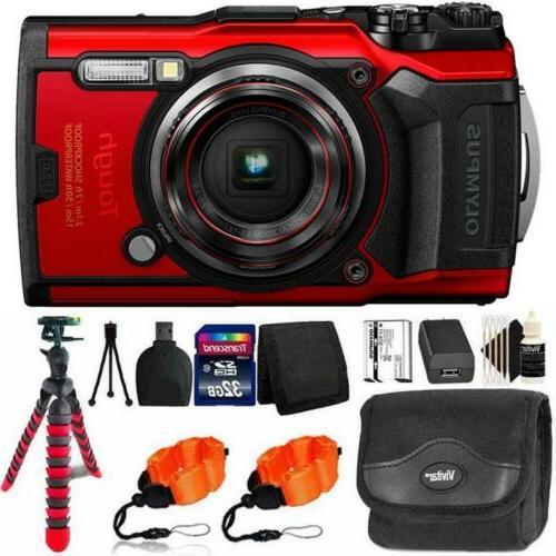 tough tg 6 digital camera red 32gb