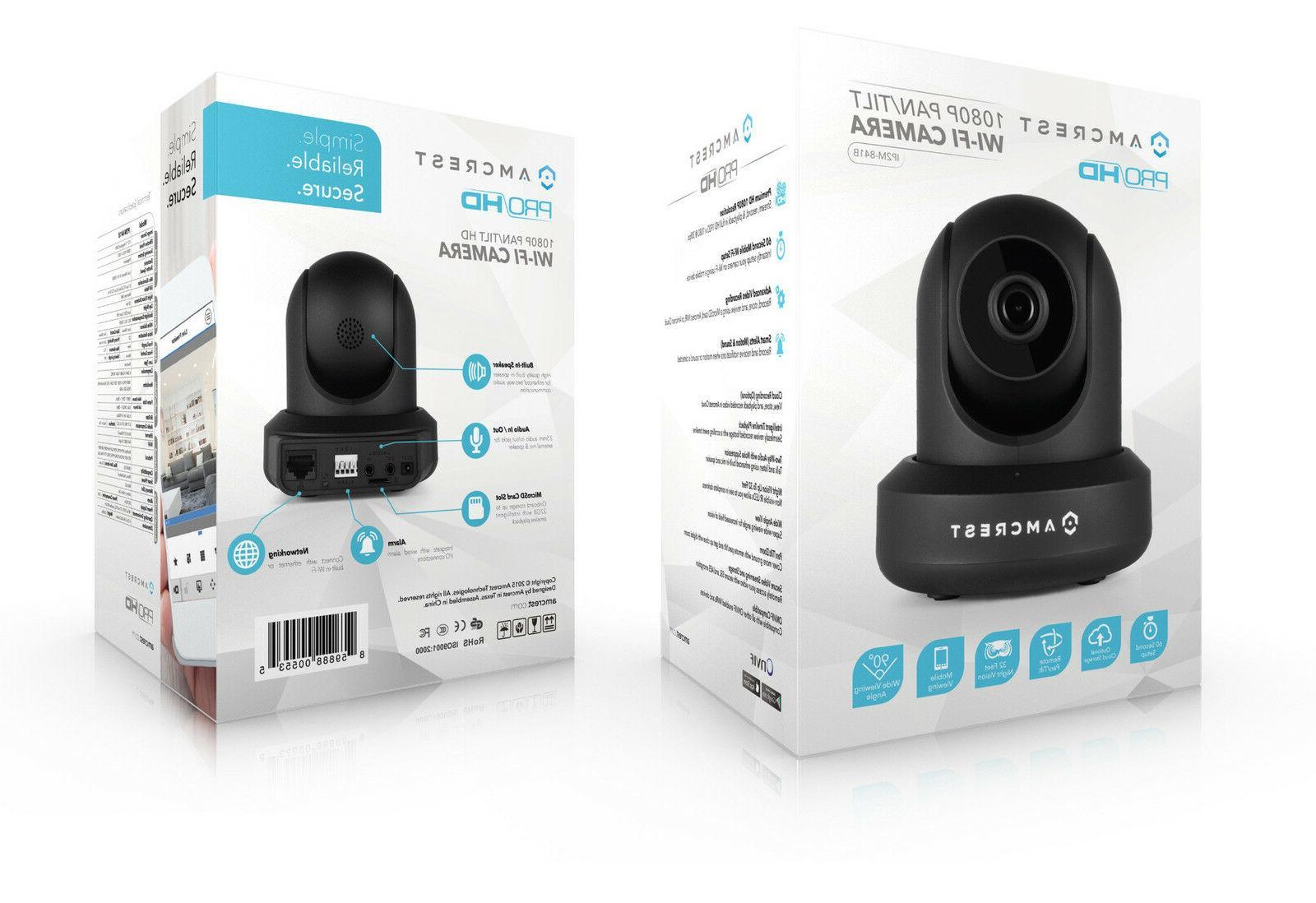 Amcrest UltraHD IP3M-941B 90°WiFi Video Monitor Security Cam Dual Band