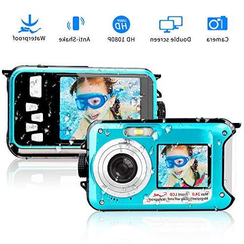 underwater waterproof selfie dual recorder