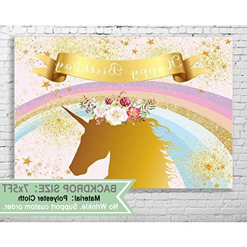 unicorn backdrop birthday decoration