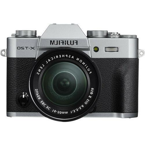 Fujifilm X-T20 Mirrorless Digital Camera - Silver with 16-50