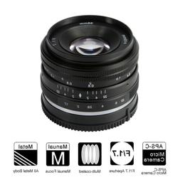 large aperture manual lens for sony aps