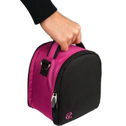VanGoddy Laurel Magenta Carrying Case Bag for Canon EOS/Rebe