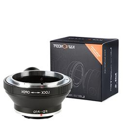 K&F Concept Lens Mount Adapter with Tripod for Canon FD Lens