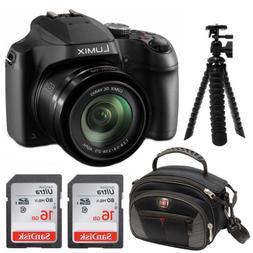 Panasonic Lumix DC-FZ80 Digital Camera 16GB SDHC 2 Pack Esse