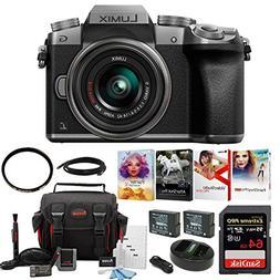 Panasonic LUMIX G7 Mirrorless Camera with 14-42mm Lens Bundl