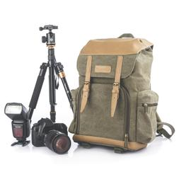 TARION M-02 Canvas Camera Backpack Water-Repellent Camera Ba