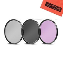 58mm Multi-Coated 3 Piece Filter Kit  for Fujifilm X-T2, X-T