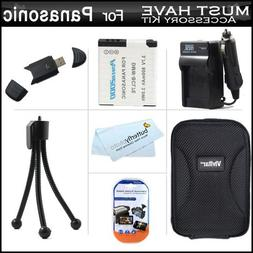 Must Have Accessory Kit For Panasonic Lumix DMC-SZ3, DMC-F5,