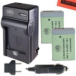 BM Premium 2-Pack of NB-13L Batteries and Battery Charger fo