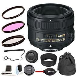 Focus Camera Nikon AF-S Nikkor 50mm f/1.8G Lens + 58mm Filte