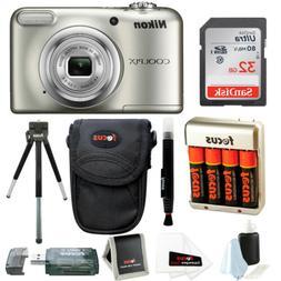 Nikon Coolpix A10 Digital Camera with 32GB Card + Batteries