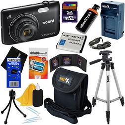 Nikon COOLPIX A300 20.1MP Digital Camera with 8x Zoom Lens &
