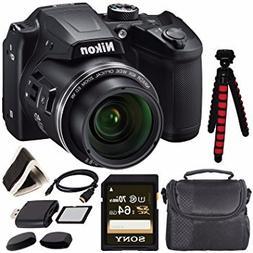 Nikon COOLPIX B500 Digital Camera  26506 + Sony 64GB UHS-I S