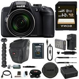 Nikon Coolpix B700 Digital Camera with 64GB SD Card and Batt