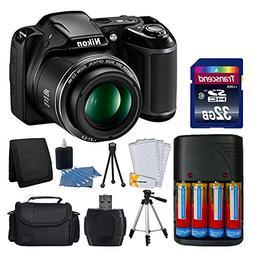 Nikon COOLPIX L340 20MP Digital Camera  AA Batteries Charger