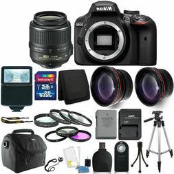 Nikon D3400 24MP Digital SLR Camera + 18-55mm Lens + 32GB Gr
