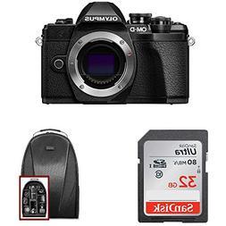 Olympus OM-D E-M10 Mark III Mirrorless Camera  + 32GB SD Car