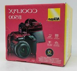 Open Box Nikon COOLPIX B500 16.0MP Digital Camera - Red -NR3