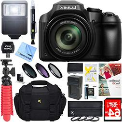 Panasonic DC-FZ80K 18.1MP 60x Optical Zoom Digital Camera +