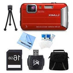Panasonic LUMIX DMC-TS30 Active Tough Red Digital Camera 16G