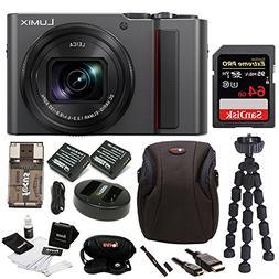 PANASONIC LUMIX ZS200 4K Camera 15X LEICA DC Vario-Elmar Len